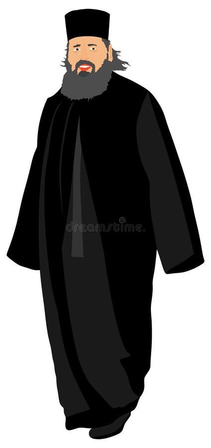 Ortodoksalny Chrześcijański ksiądz ilustracji