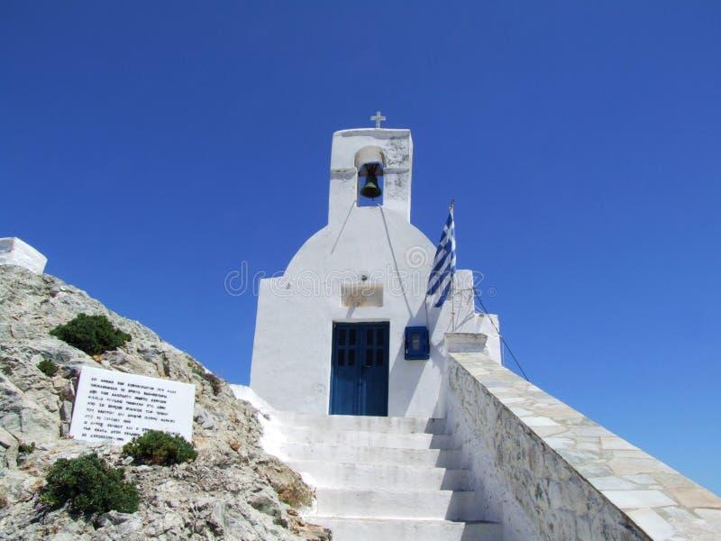 Ortodoksalny kościół ażio Konstantinos na Serifos wyspie fotografia stock
