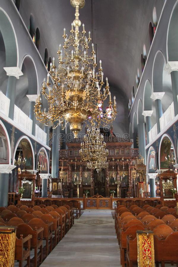 Ortodoksalny kościół, Crete, Grecja obraz stock