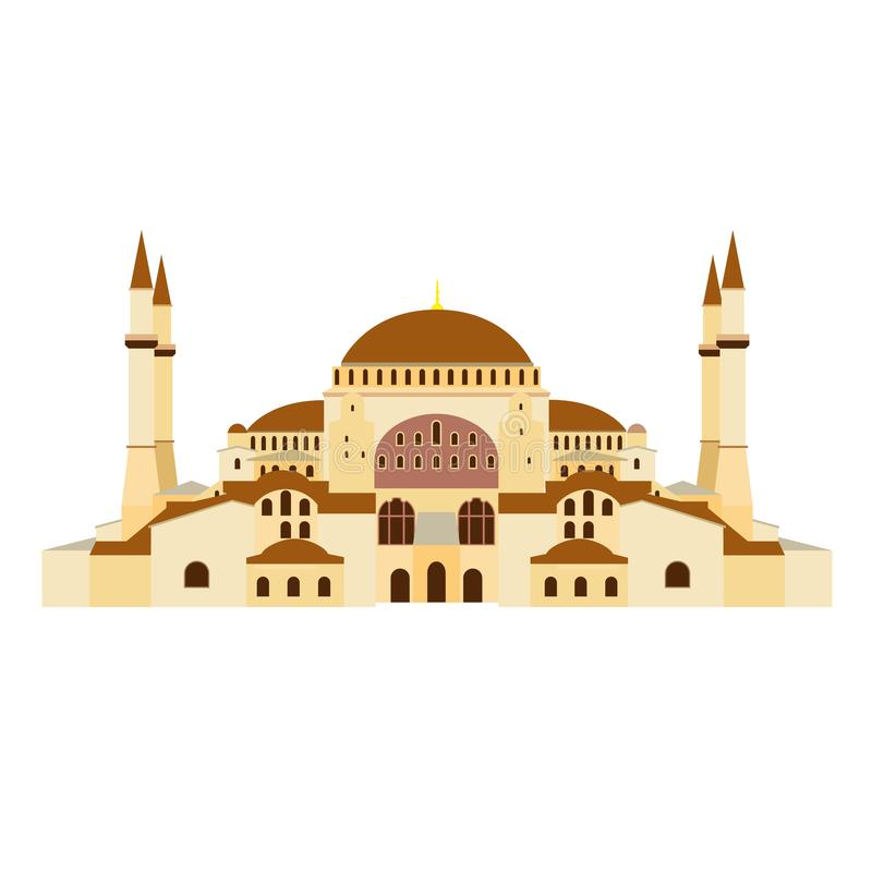 Ortodoksalny kościół Hagia Sophia w Turcja Ortodoksalna katedra, meczet, muzeum ilustracji
