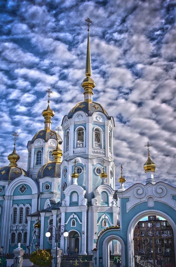 Ortodoksalny kościół HDR zdjęcia stock