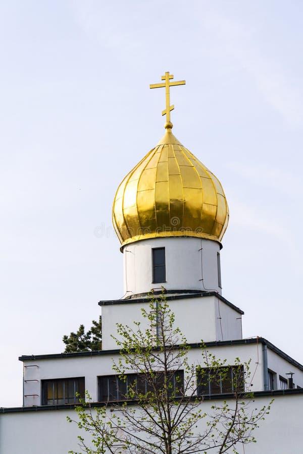 Ortodoksalny kościół St Wenceslas, Brno, Moravia, republika czech, słoneczny dzień, jasny niebieskie niebo obraz royalty free