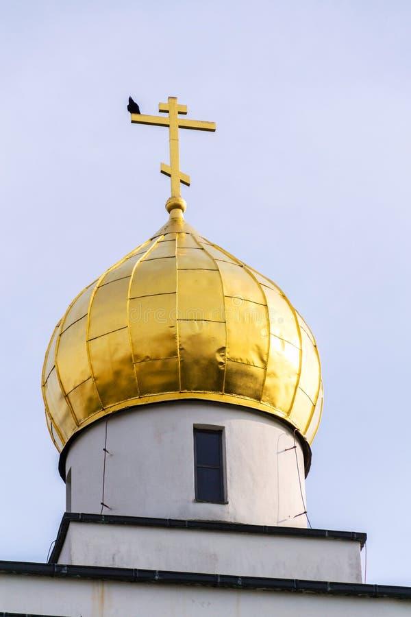 Ortodoksalny kościół St Wenceslas, Brno, Moravia, republika czech, słoneczny dzień, jasny niebieskie niebo zdjęcie stock
