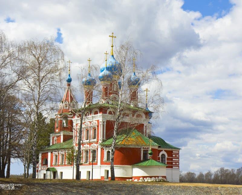 Ortodoksalny kościół, Uglich, Rosja zdjęcie royalty free