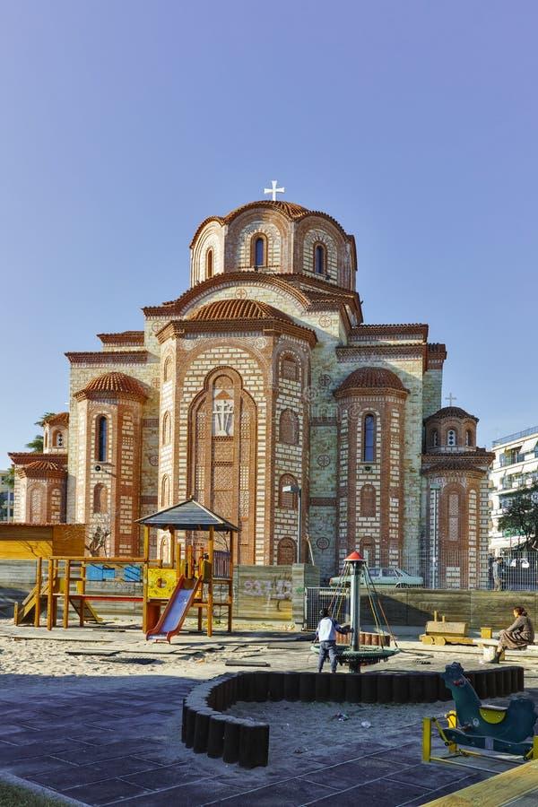 Ortodoksalny kościół w centrum miasteczko Xanthi, Wschodni Macedonia i Thrace, zdjęcie royalty free