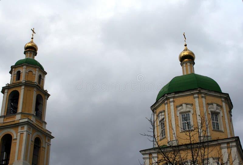 Ortodoksalny kościół w Domodedovo Moskwa regionie obraz royalty free