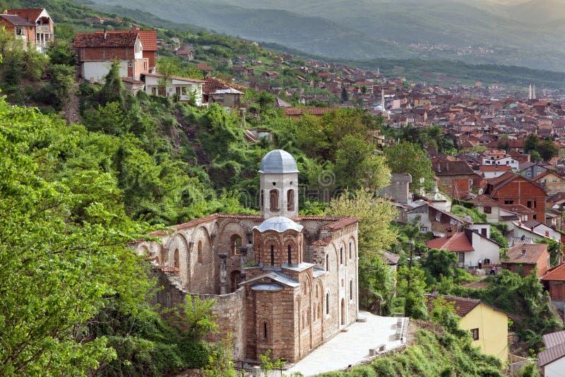 Ortodoksalny kościół w Prizren, Kosowo zdjęcia stock
