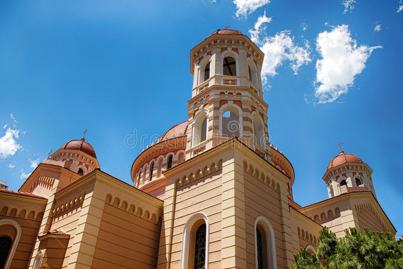 Ortodoksalny kościół w Saloniki zdjęcia stock