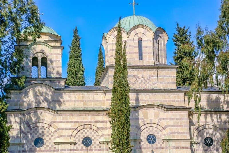 Ortodoksalny kościół w Tivat, Montenegro fotografia royalty free
