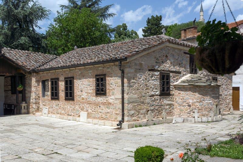 Ortodoksalny kościół wniebowstąpienie Jezus w Skopje, republika Macedonia obrazy royalty free