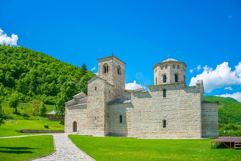 Ortodoksalny monaster Djurdjevi Stupovi w Montenegro fotografia stock