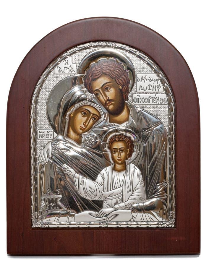 ortodoksyjna rodzinna ikona zdjęcia stock