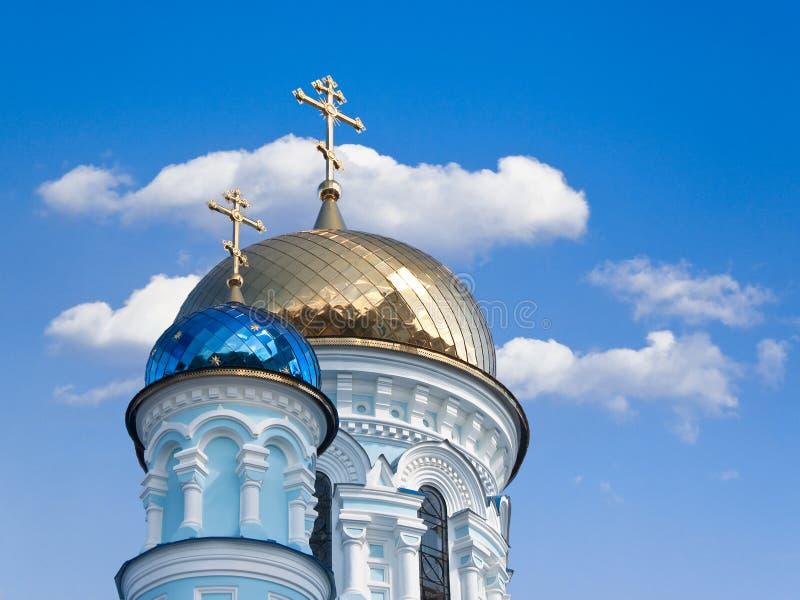 ortodoksyjne kościelne kopuły obraz royalty free