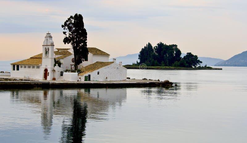 ortodoksyjny kościelny Corfu zdjęcie royalty free