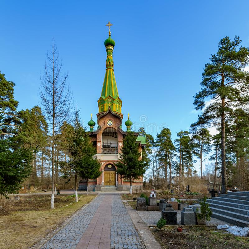 Ortodox all helgonkyrka i Priozersk, Ryssland arkivfoto
