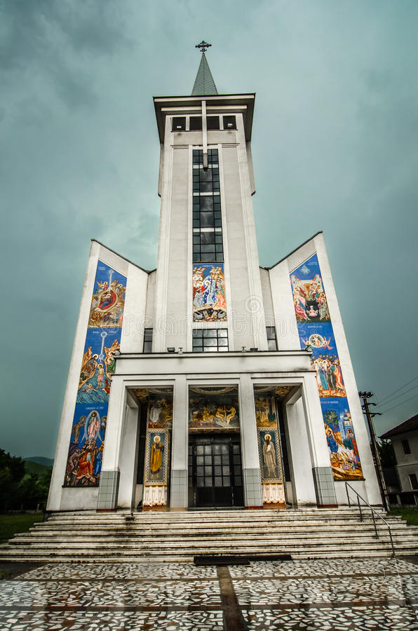 Ortodox church in Maramures , Romania royalty free stock photos