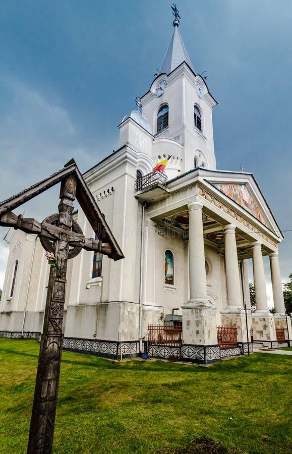 Ortodox church in Maramures , Romania stock photo