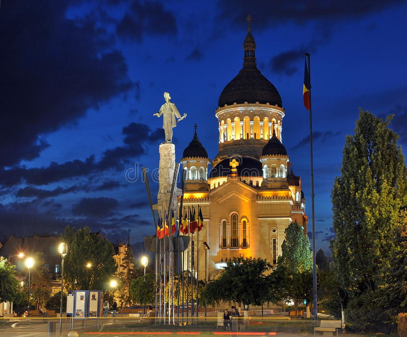 Ortodox domkyrka av Cluj-Napoca arkivfoton