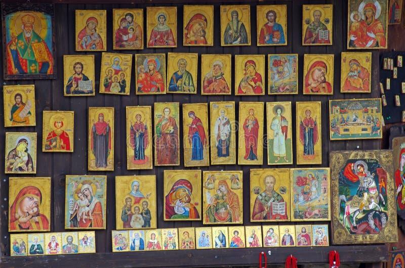Ortodox iconography arkivbild