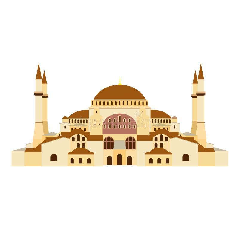 Ortodox kyrka Hagia Sophia i Turkiet Ortodox domkyrka, moské, museum stock illustrationer