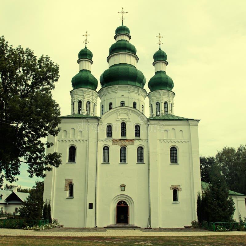 Ortodox kyrka i Chernigiv, Ukraina arkivbild