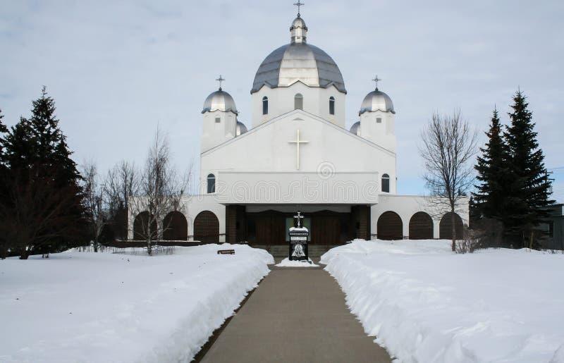 Ortodox kyrka i Kanada fotografering för bildbyråer