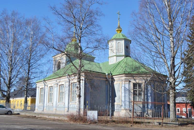 Ortodox kyrka i Lappeenranta arkivfoto