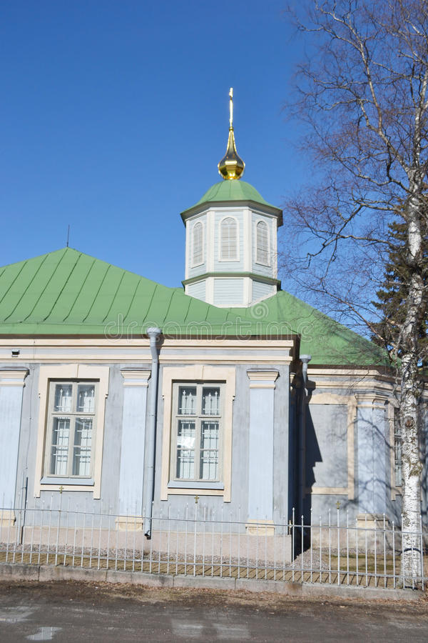 Ortodox kyrka i Lappeenranta arkivfoton