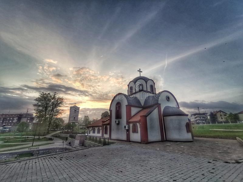Ortodox kyrka i NiÅ ¡, royaltyfri bild
