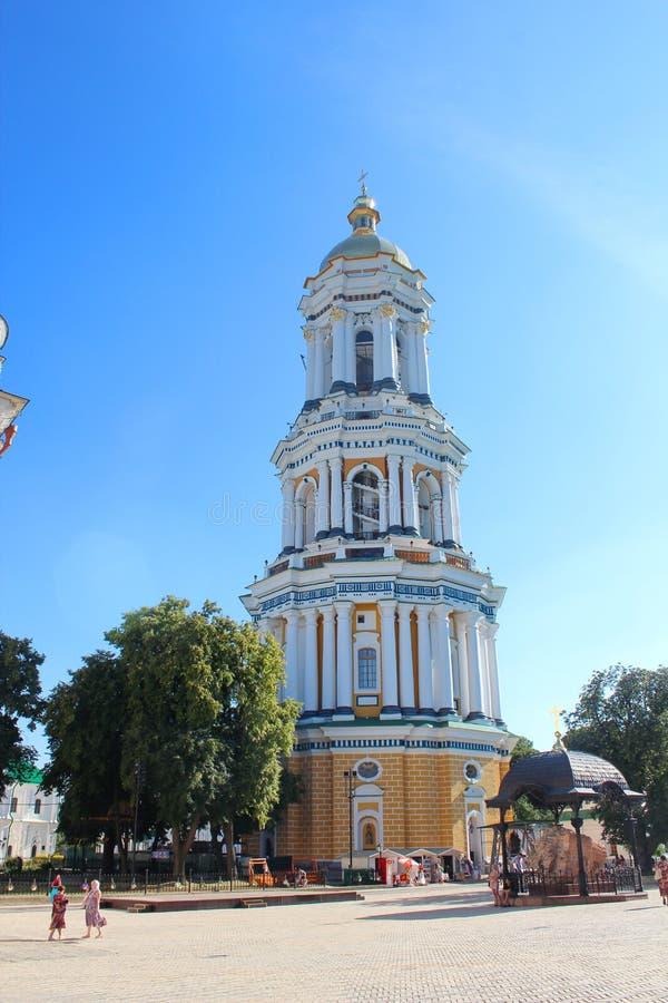 ortodox pechersk för kiev lavrakloster stor lavra för belltower royaltyfri foto