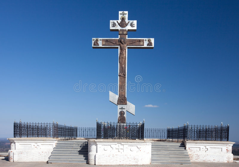 ortodox russia för korsberg white arkivbild