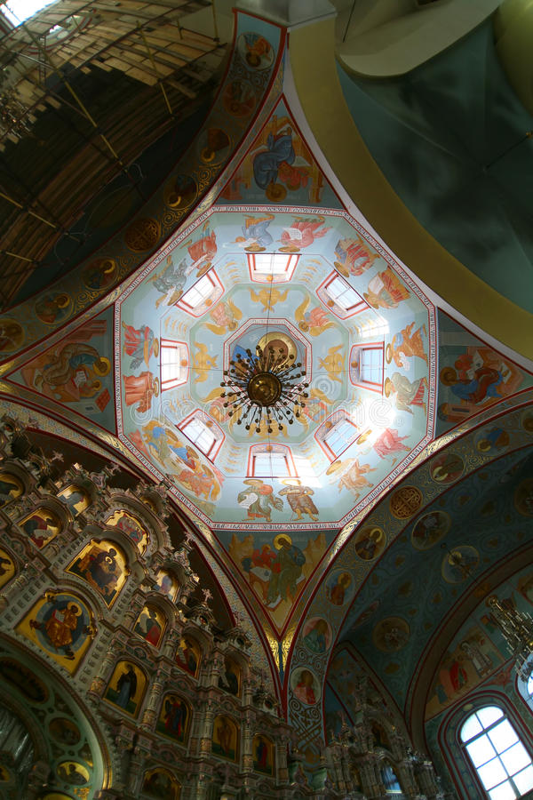 ortodox ryss för kyrklig cupola royaltyfri fotografi