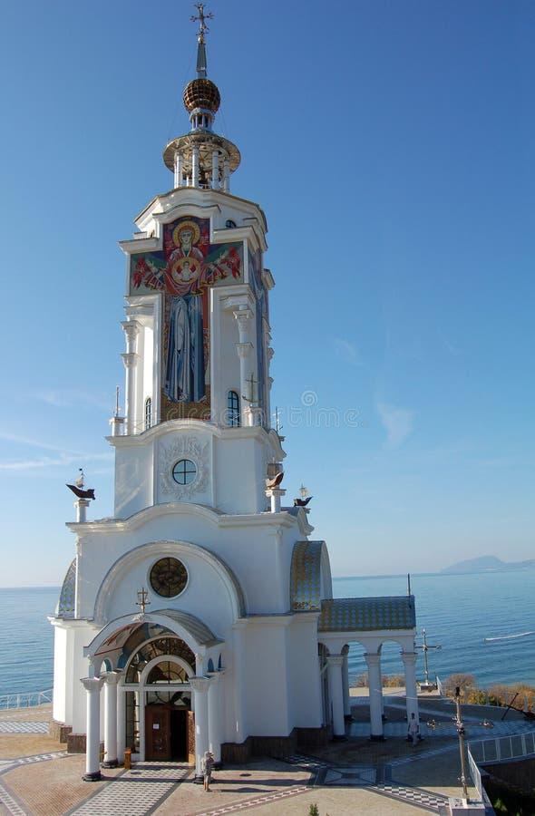 Ortodox Sea Church royalty free stock photo