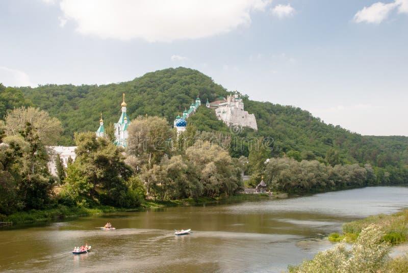 Ortodox slavisk kloster Tempel av Ukraina arkivfoto