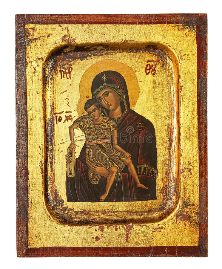 Ortodox symbol royaltyfria bilder