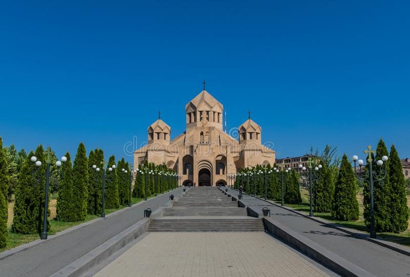 Ortodoxa gränsmärken i Yerevan, Armenien arkivbilder