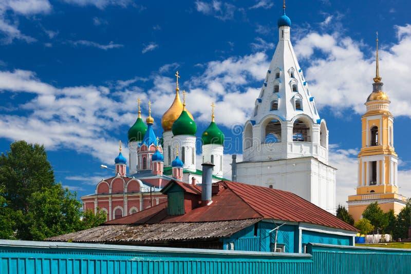 Ortodoxa Kolomna royaltyfria foton
