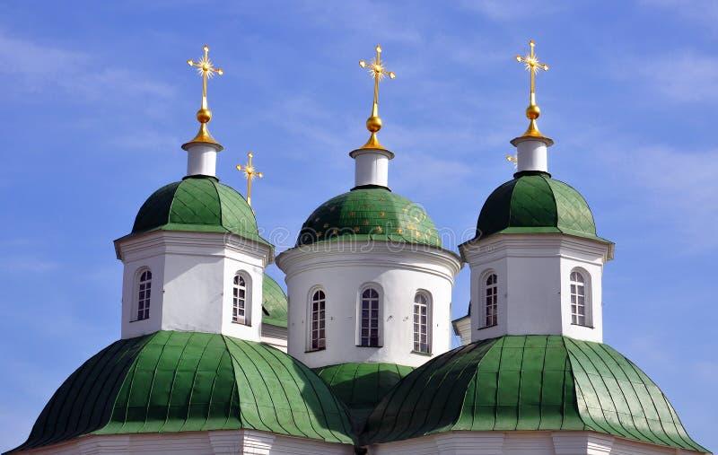 ortodoxa kyrkliga kupoler royaltyfri bild