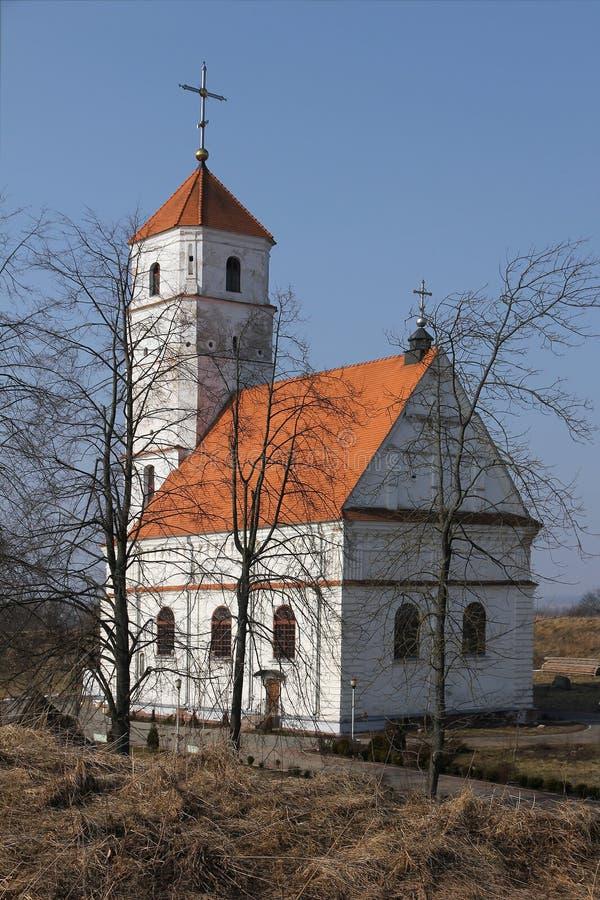 Ortodoxkyrka i Zaslavl, Vitryssland. royaltyfri fotografi
