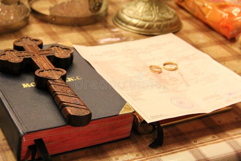 ortodoxt bröllop för tillbehör arkivbilder