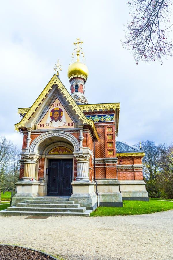 Ortodoxt kapell i parkera royaltyfri bild