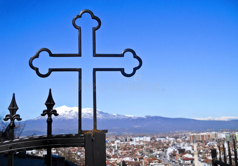 ortodoxt kristet kors arkivfoton