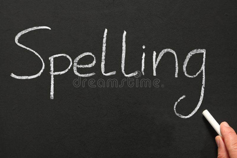 Ortografia di scrittura. fotografia stock libera da diritti