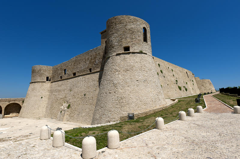 Ortona (Abruzzi, Italy), Castello Aragonese. Ortona (Chieti, Abruzzi, Italy), castle known as Castello Aragonese royalty free stock photography