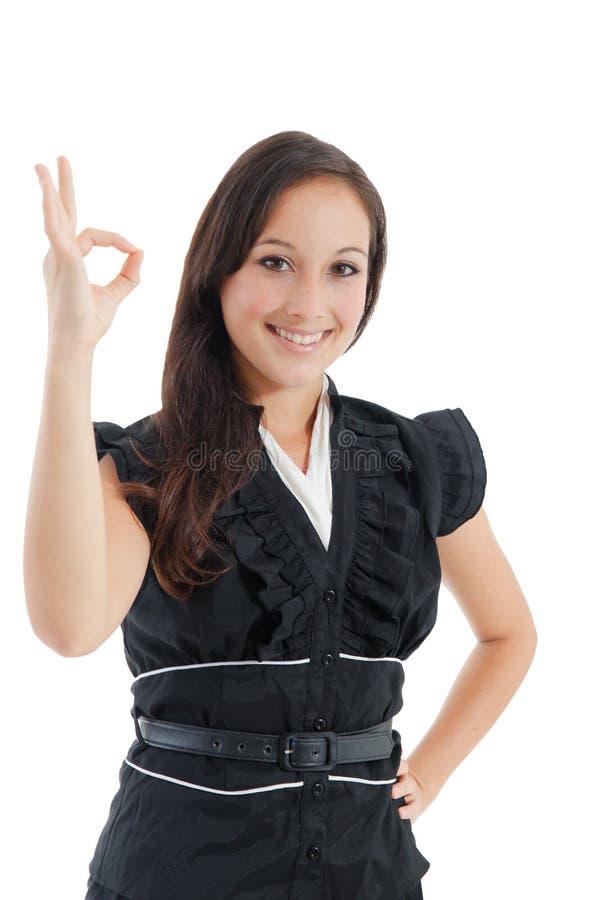 Ortrait de la empresaria sonriente feliz imagenes de archivo