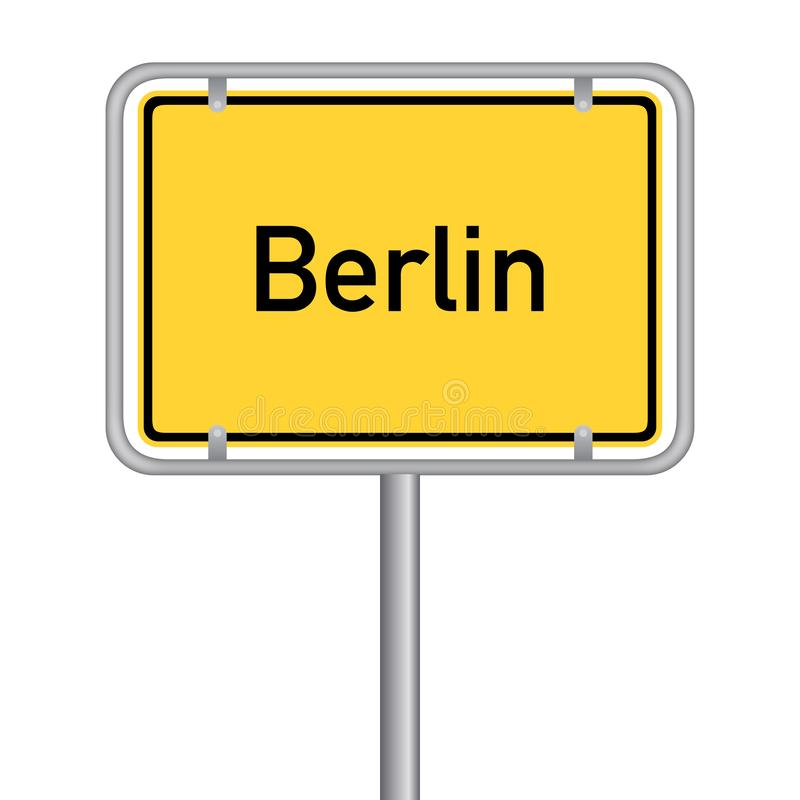 Free Ortsschild - Landeshauptstadt Berlin Ortseingangsschild. Vektor Eps10 Stock Photography - 140715442