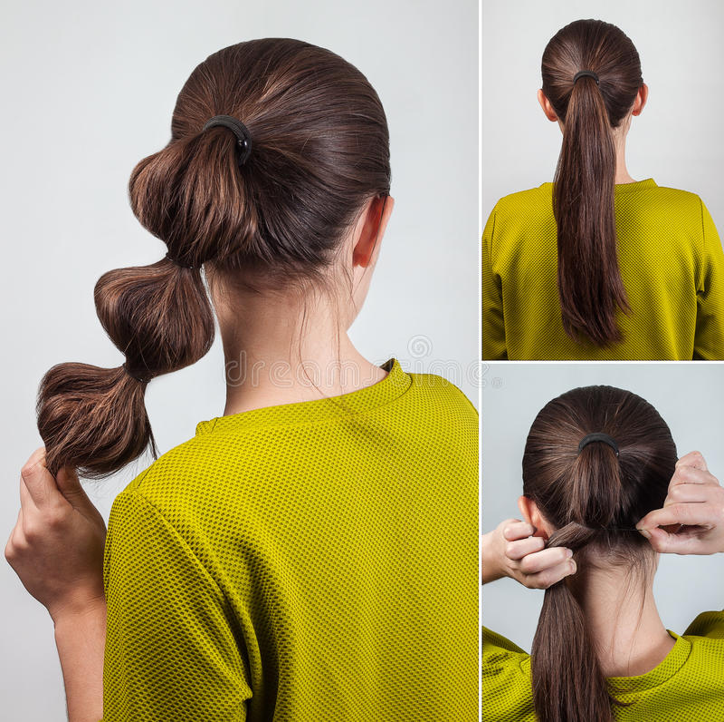 Orubblig enkel frisyr arkivfoton