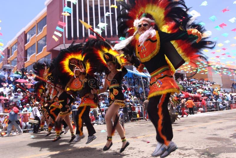 Oruro karneval arkivfoton