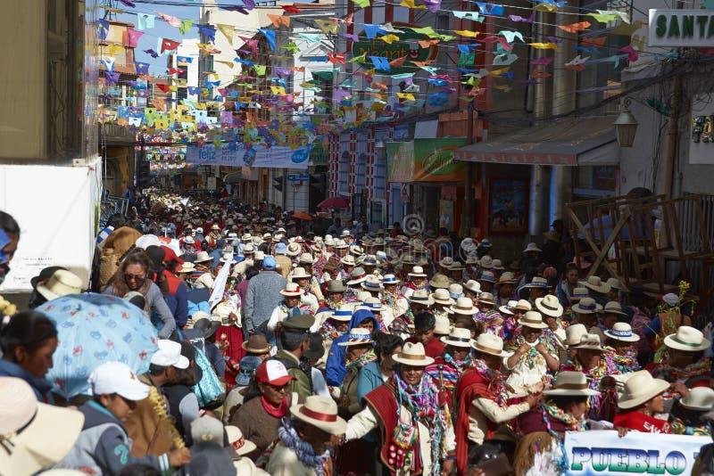 Oruro karneval i Bolivia royaltyfri bild