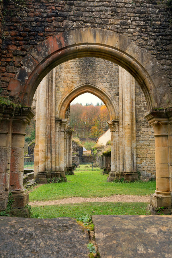 Download Orval Abbey in Autumn stock image. Image of destroyed - 32065769